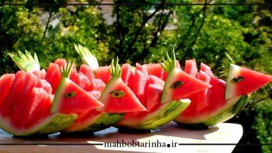 تصویر از ایده برای تزیین هندوانه