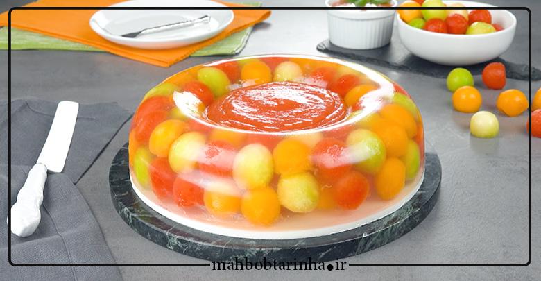 ژله با میوه های تابستانی